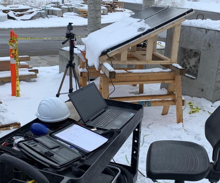 Building Integrated PhotoVoltaic Snow Removal Lab Test